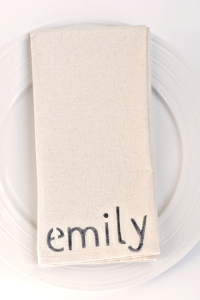 DIY Personalized napkin for weddings or parties