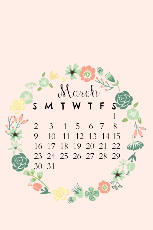 March iPhone Calendar Final
