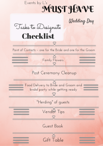 Events by L's Bride's Guide Wedding Day Checklist